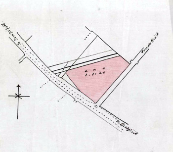Plan of the site of the Gardeners Arms [GK307/10]